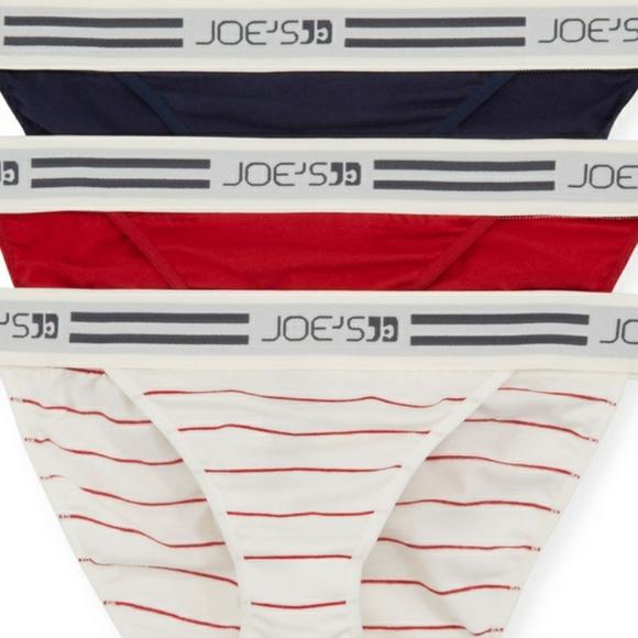 Joe's Jeans 3 Pack Logo Waist Bikini Briefs